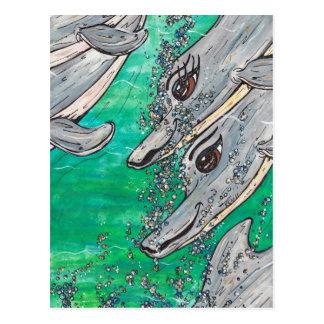 Cartão Postal Vagem amigável do golfinho