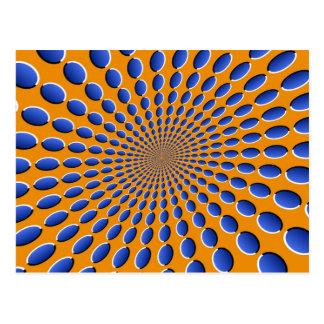 Cartão Postal Vagens da ilusão óptica