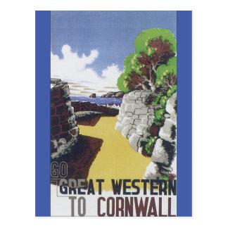 Cartão Postal Vai Great Western ao poster das viagens vintage de