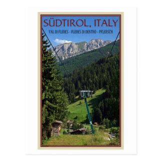 Cartão Postal Val di Fleres - T-bar do verão