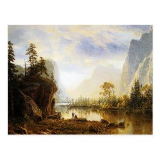 Cartão Postal Vale de Albert Bierstadt Yosemite