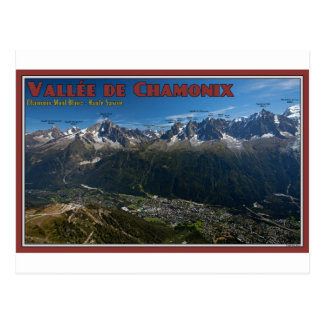 Cartão Postal Vale de Chamonix