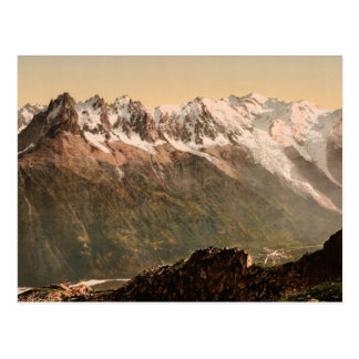 Cartão Postal Vale de Chamonix do Aiguille du Floria Savoy