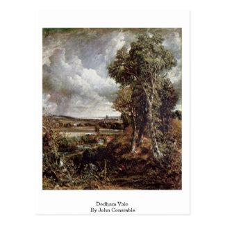 Cartão Postal Vale de Dedham por John Constable