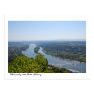 Cartão Postal Vale de Rhine River perto de Bona, Alemanha