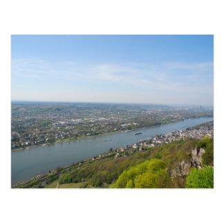 Cartão Postal Vale de Rhine River por Bona, Alemanha