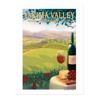 Cartão Postal Vale de Yakima, país de WashingtonWine