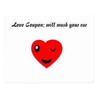 Cartão Postal Vale do amor: lavará seu carro