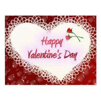 Cartão Postal Valentine&apos feliz; dia de s