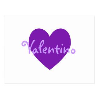 Cartão Postal Valentino no roxo