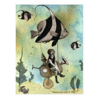 Cartão Postal Valenzia & seu piloto do Angelfish