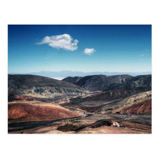 Cartão Postal Vales coloridos da montanha em torno dos