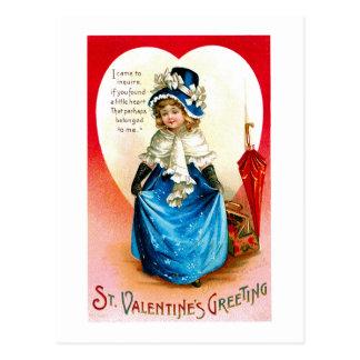 Cartão Postal Valetine azul Bonnie