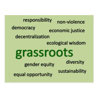 Cartão Postal Valores & filosofia verdes 2