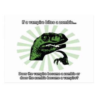 Cartão Postal Vampiros e zombis de Philosoraptor