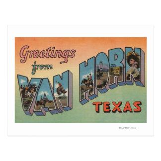 Cartão Postal Van Chifre, Texas - grandes cenas da letra