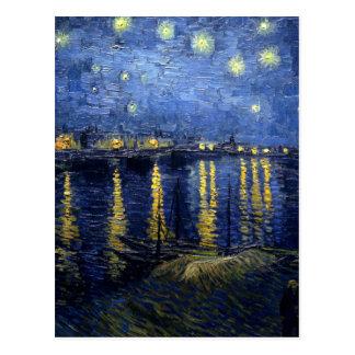 Cartão Postal Van Gogh: Noite estrelado sobre o Rhone