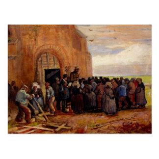 Cartão Postal Van Gogh, venda da sucata da construção, belas