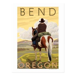 Cartão Postal Vaqueiro & cavalo - curvatura, Oregon