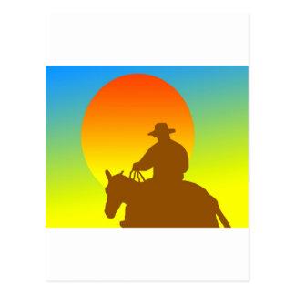 Cartão Postal Vaqueiro do por do sol