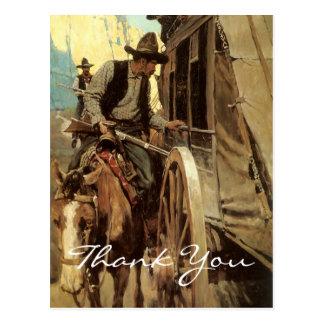 Cartão Postal Vaqueiro do vintage do NC Wyeth