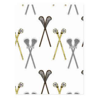 Cartão Postal Varas do Lacrosse