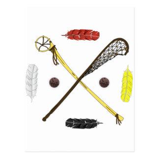 Cartão Postal Varas tradicionais do Lacrosse