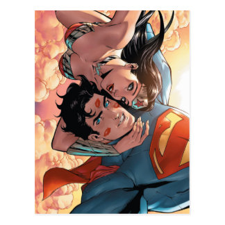 Cartão Postal Variação cómica do cobrir #11 do superman/mulher