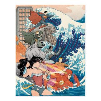 Cartão Postal Variação cómica do cobrir #15 da liga de justiça