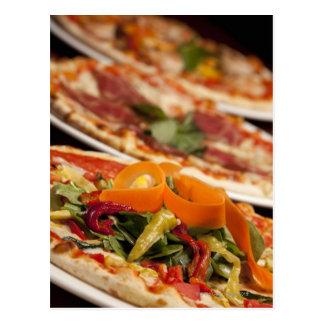 Cartão Postal Várias pizza e coberturas