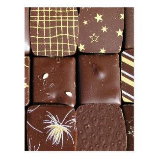 Cartão Postal Variedades do chocolate