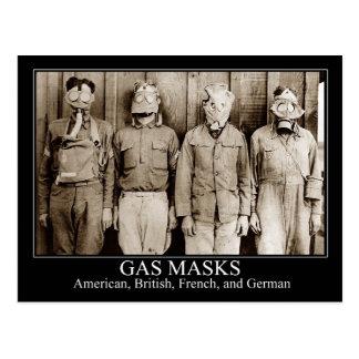 Cartão Postal Vários tipos de máscaras de gás