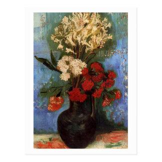 Cartão Postal Vaso com os cravos por Vincent van Gogh