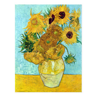Cartão Postal Vaso com os doze girassóis por Vincent van Gogh