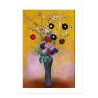 Cartão Postal Vaso das flores por Redon