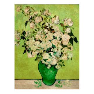 Cartão Postal Vaso dos rosas por Vincent van Gogh