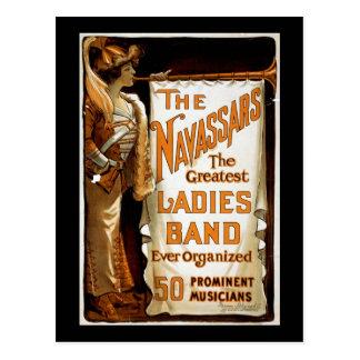 "Cartão Postal ""Vaudeville do vintage do Navassars"""