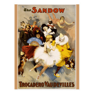 Cartão Postal Vaudeville - o Sandow, vaudevilles de Trocadero