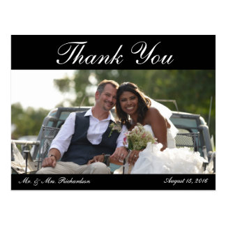 Cartão Postal Vazio - obrigado da foto do casamento de