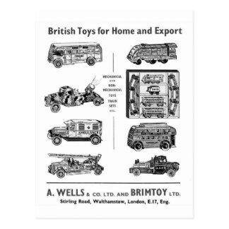 Cartão Postal Veículos britânicos do brinquedo do vintage