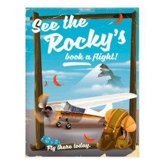 """Cartão Postal Veja o """"livro rochoso um vôo! """""""