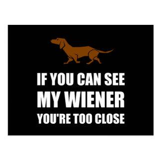 Cartão Postal Veja o Wiener demasiado próximo