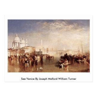 Cartão Postal Veja Veneza por Joseph Mallord William Turner
