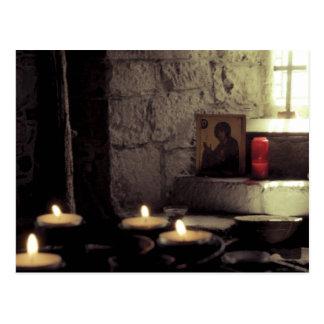 Cartão Postal Velas da abadia de Iona