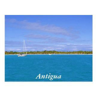 Cartão Postal veleiro em Antígua