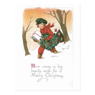 Cartão Postal Vem aqui um desejo entusiasta