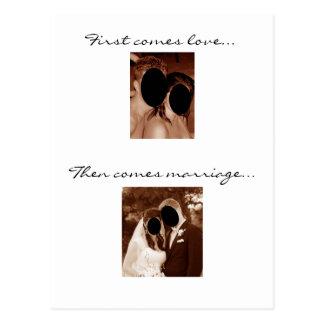 Cartão Postal Vem primeiramente o amor… Nós estamos tendo um