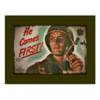 Cartão Postal Vem primeiro racionamento da comida de WWII