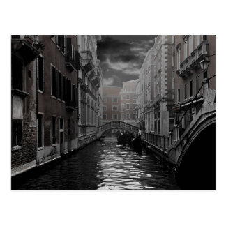 Cartão Postal Veneza em preto e branco