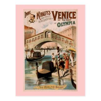 """Cartão Postal """"Veneza teatro do vintage de hoje"""""""